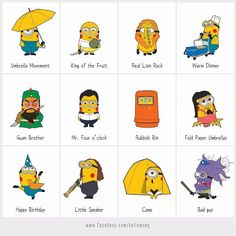 Minions Support Umbrella Revolution in HK!