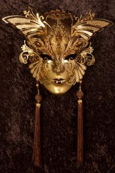 Libitea maschera veneziana, maschera del carnevale veneziano, originale in…