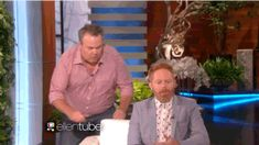 When Eric Stonestreet scared his onscreen husband, Jesse Tyler Ferguson. | 26 Times Ellen DeGeneres Scared The Crap Out Of Famous People