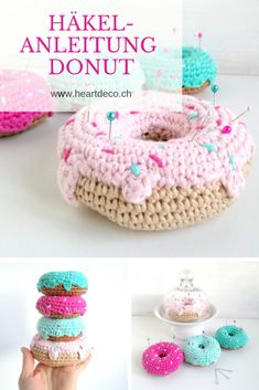 Donut häkeln – kostenlose Anleitung For a long time I have fallen for the sweet donuts. You just look too good! This calorie-free variant can therefore be sinned / hacked until you drop! Get the free crochet pattern for your donut now! Tunisian Crochet, Learn To Crochet, Crochet Gratis, Free Crochet, Crochet Food, Crochet Baby, Food Kawaii, Tricot Simple, Crochet Projects