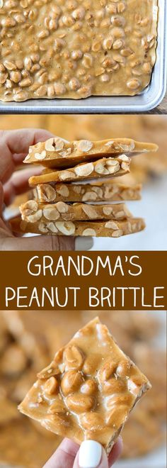 Grandma Wanda's peanut brittle is very easy to make and perfect for homemade Christmas gifting. #homemade #homemaderecipes #dessert #dessertrecipes #sweet #peanut #grandma
