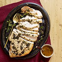 Herbed Turkey Breast with Wine Sauce. Weight Watchers 5 points. 15 min prep and 53 minute cook time