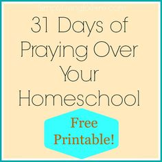 Pray for your homeschool! FREE Printable