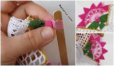 KENAR DANTEL ÖRNEĞİ SADE VE ŞIK ÖMÜR TÜKETEN MODELİ   Nazarca.com Crochet Stitches Patterns, Stitch Patterns, Fingerless Gloves, Arm Warmers, Crochet Earrings, Floral, Flowers, Asdf, Knitting Patterns