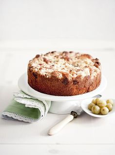Macadamia - Gooseberry Cake..  Oh, to be in south Missouri when the gooseberries are ready to be picked.