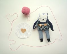 Simon    Little Sailor  Owl soft art toy by por wassupbrothers, $40,00
