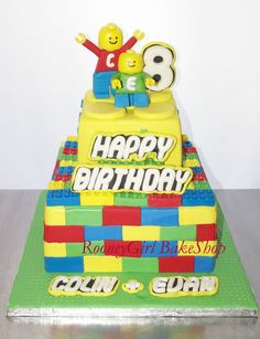 Lego Birthday Cake by RooneyGirl BakeShop (by RooneyGirl BakeShop)