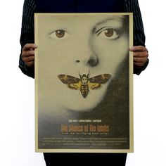 51x36cm Silence of The Lambs Nostalgic Retro Classic Movie Poster Painting Kraft Home Decor Vintage  Paper Poster Wall Stickers * You can get more details by clicking on the image. #HomeDecor