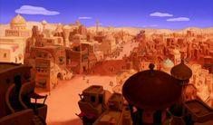 Animation Backgrounds: ALADDIN (1992) Disney Concept Art, Game Concept Art, Disney Art, Aladdin Game, Aladdin 1992, Environment Concept Art, Environment Design, Animation Background, Fantasy Inspiration