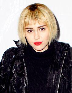 Miley Cyrus gives the bowl haircut a go