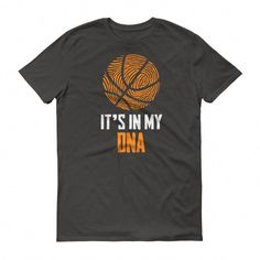 Men s It Is In My DNA Fingerprint Basketball Funny T-Shirt   basketballquotes Basketball Party 01b542b62af4a