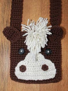 Crochet Kids Horse Bag pattern on Craftsy.com @Danielle Romey I might get you to make this for me for Kailee for Christmas. think you could do it?