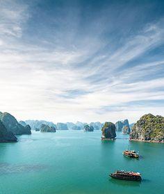 Halong Bay,Gulf of Tonkin,Quang Ninh,karst,limestone,seascape,scenic,island,cliff,boat,charter boat,island