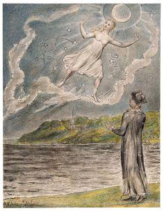 The Wandering Moon - William Blake - 1816-1820 WikiArt.org