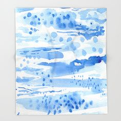 Buy Landscape in blue Throw Blanket by elenablanco. Worldwide shipping available at Society6.com. Just one of millions of high quality products available.