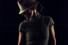 Jessica Coleman Photography.  Eugene Oregon photographer.  Two light portrait.  2 softboxes.  Moody lighting.  Dramatic lighting.  Fedora.  Low key portrait.