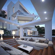 Outdoor sunken living space