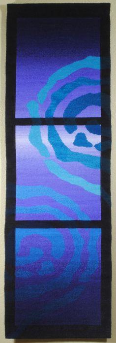 Rebecca Mezoff, Emergence VI, hand-dyed wool tapestry
