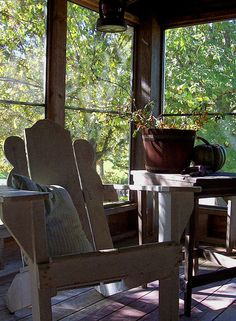 A screened porch - we have one on the back of our house and just love love love it...