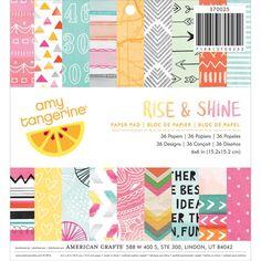 Amy Tangerine - Rise & Shine - pad papierów 15x15
