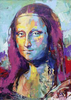 Mona Lisa, inch, acrylic on - Lilly is Love Lisa Gherardini, Voka Art, La Madone, Mona Lisa Parody, Figurative Kunst, Value In Art, Monalisa, Arte Pop, Acrylic Art