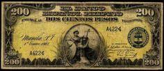 1908. 200 peso bill. Spanish version (antiquemoney.com)