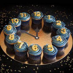 Cupcake Oud & Nieuw Klok