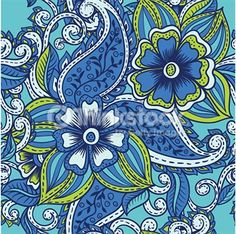 blue white and yellow flower shaped lines