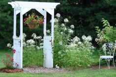 making snazzy re purposed garden arches, gardening, outdoor living, Jeanne Sammon s original door arbor set off several projects on FMG