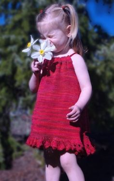 Claudia Hand Painted Yarns--Lena Dress (ages 2, 3, 4) $6