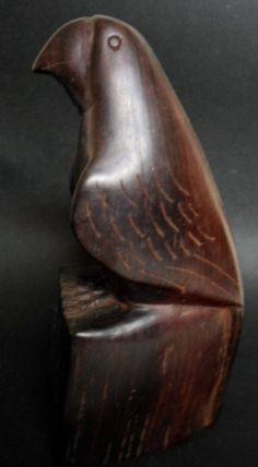Wounaan Embera Cocobolo Falcon Bird Wood Carving-Panama 15102025L