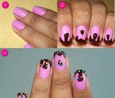 Candy Crush Saga nail art