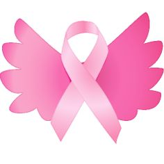 PiNK ribbon angel wings ... Breast Cancer Awareness