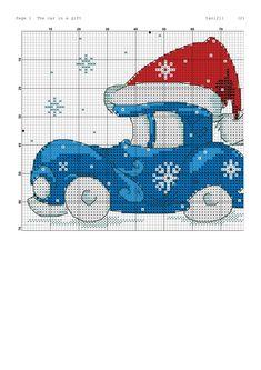 1 Xmas Cross Stitch, Cross Stitch Christmas Ornaments, Cross Stitch For Kids, Christmas Cross, Cross Stitching, Cross Stitch Embroidery, Cross Stitch Designs, Cross Stitch Patterns, Machine Embroidery Designs
