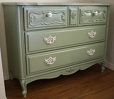 A Diamond In The Stuff My Revamped Dresser Green Pine Paint