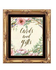 wedding cards gifts sign, digital wedding sign, ivory wedding sign, rustic wedding sign, floral cards gifts sign, rustic cards sign, 8x10 by OurFriendsEclectic on Etsy