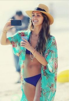 Shop celeb look . vogue style . beach kaftan . beach kimono . boho style light weight beach cover up bikini wrap bathing suit
