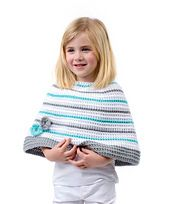 Children who want to look as fashionable as their parents will love wearing this sweet poncho. Parents will love that it is crocheted with yarn that has been tested for harmful substances.