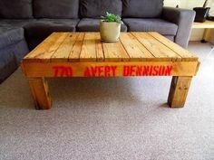 Wood Pallet Coffee Table DIY   Pallet Furniture Plans #palletcoffeetables