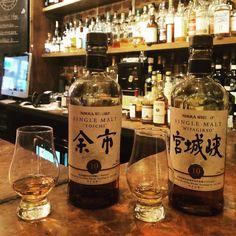 2 birds just landed & want to fly awaymake sure you try b4 they gone @nikkawhiskyeu #yoichi #myagikyo #japanesewhisky #whiskey #whisky #whiskeyporn #whiskeyshop #whiskeybar #soho #london #dram #10yo #singlemalt #taketsuru #bartender #thevault #milroysofsoho #whiskeymademedoit