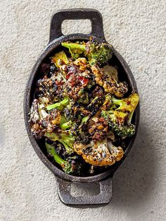 Try our broccoli and cauliflower salad recipe with harissa. This roasted cauliflower salad with broccoli is a super quick and easy healthy vegan side dish Vegan Side Dishes, Side Dish Recipes, Vegetable Recipes, Vegetarian Recipes, Healthy Recipes, Vegetarian Grilling, Vegetarian Dinners, Roasted Cauliflower Salad, Cauliflower Recipes
