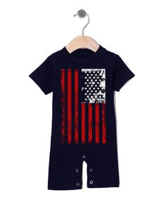 Love this Navy Weathered Flag Romper - Infant by Urban Smalls on #zulily! #zulilyfinds