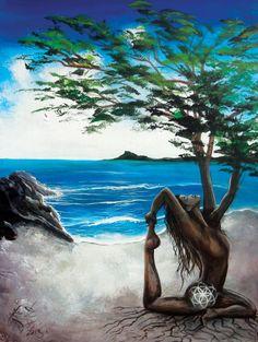 Woman Tree Painting