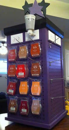 Ashley, Scentsy display- it's a tardis. I feel this must have a special significance for you.