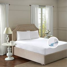 Product review for Mattress Protector Encasements - Fitted Sheet Style – Waterproof, 3M Stain Resistant, Dust Mite Proof –Full size – White - by Comfort Spaces.  - MATTRESS PROTECTOR – FITTED SHEET STYLE Prolong the life of your mattress against stains and dirt with this mattress protector from Comfort Spaces. A TPU lamination is featured on the face and back of the mattress protector. It is a micro-thin layer of film which reduces the regular wear....  Continue