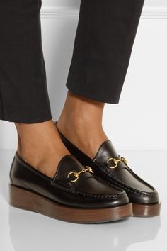 #Gucci | Horsebit-detailed platform loafers