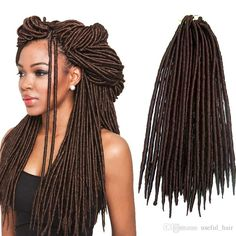 Hot Sell Straight 18inch Dreadlocks Braids Synthetic Hair Extension Dreads 24strands/pcs Faux Locs Crochet Synthetic Dreads Braiding Hair Synthetic Dreads Dreadlocks Braids Croceht Braids Online with $26.23/Piece on Useful_hair's Store | DHgate.com