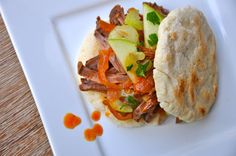 """Who said that eating grain and gluten free was boring? This incredible BBQ Beef Sandwich is savory and satisfying — making even the pickiest eaters in the family happy! Try my quick and easy recipe for Grain-Free Flat Bread to use as the sandwich buns, it's my favorite way to add a piece of """"bread""""..."""