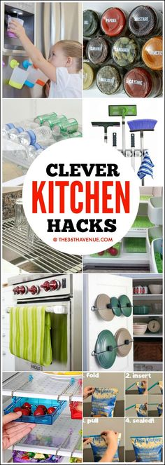 Clever Kitchen Hacks and Gadgets that will change your life! - These 45 Kitchen Organization Ideas are AMAZING!