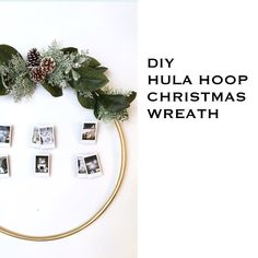DIY Hula Hoop Christmas Wreath - learn how to make this easy, unique and beautiful holiday hoop wreath - visit www.harlowandthistle.com to learn more